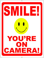 Smile You're on Camera Sign. with Graphics Options. - Signs & Decals by SalaGraphics
