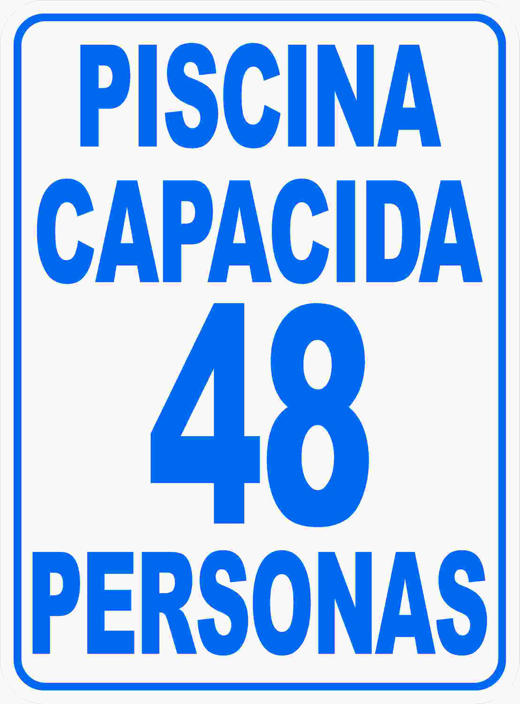 Spanish Pool Capacity Sign