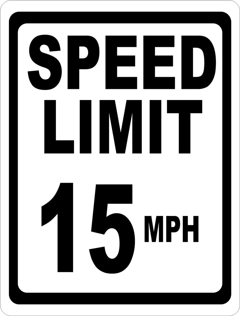 Speed Limit 15 MPH Sign - Signs & Decals by SalaGraphics
