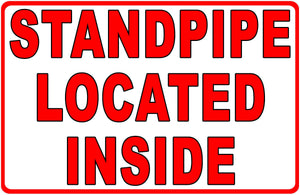 Standpipe Location Sign FDC Fire Department Connection