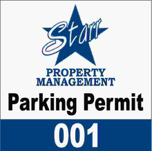 Parking Permit with Numbering Decal