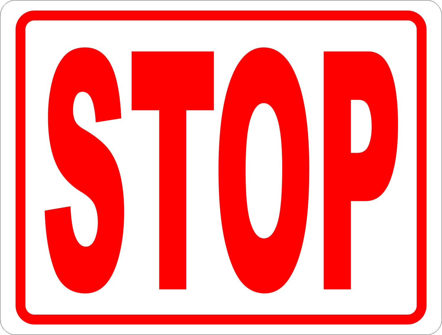 picture of stop sign Stop Sign (rectangular) – Signs by SalaGraphics