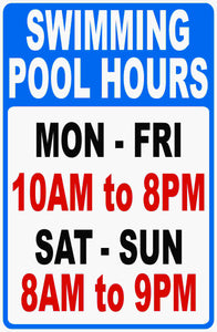 Custom Swimming Pool Sign by Sala Graphics