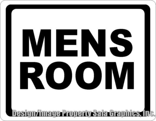 Mens Room Sign - Signs & Decals by SalaGraphics
