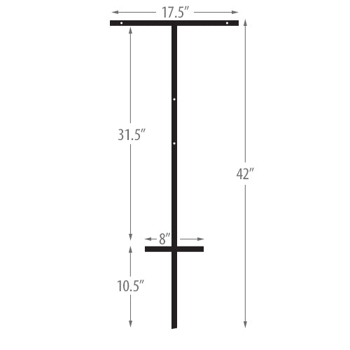 T-Bar Ground Stake for Signs Frame
