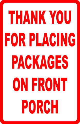 Please Deliver All Packages To Back Door Sign Signs By