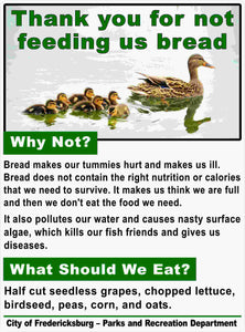 Custom Duck Sign - Thank You For Not Feeding Us Bread