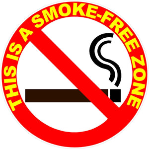 This is a Smoke Free Zone Decal - Signs & Decals by SalaGraphics
