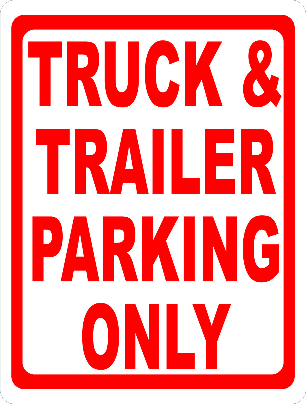 Truck & Trailer Parking Sign