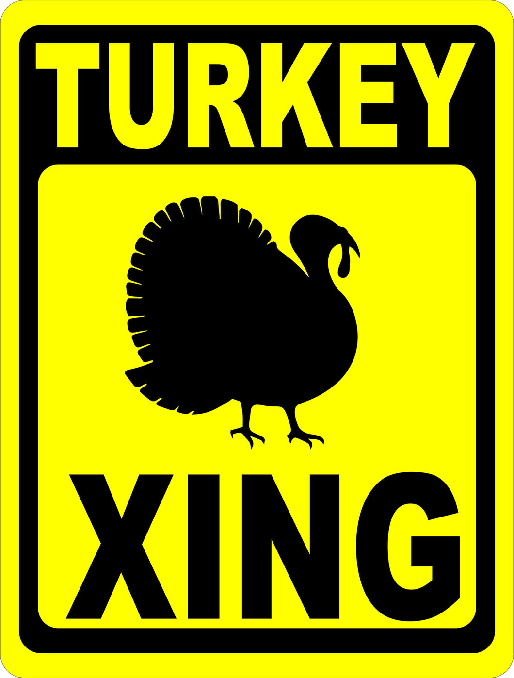 Turkey Xing Sign