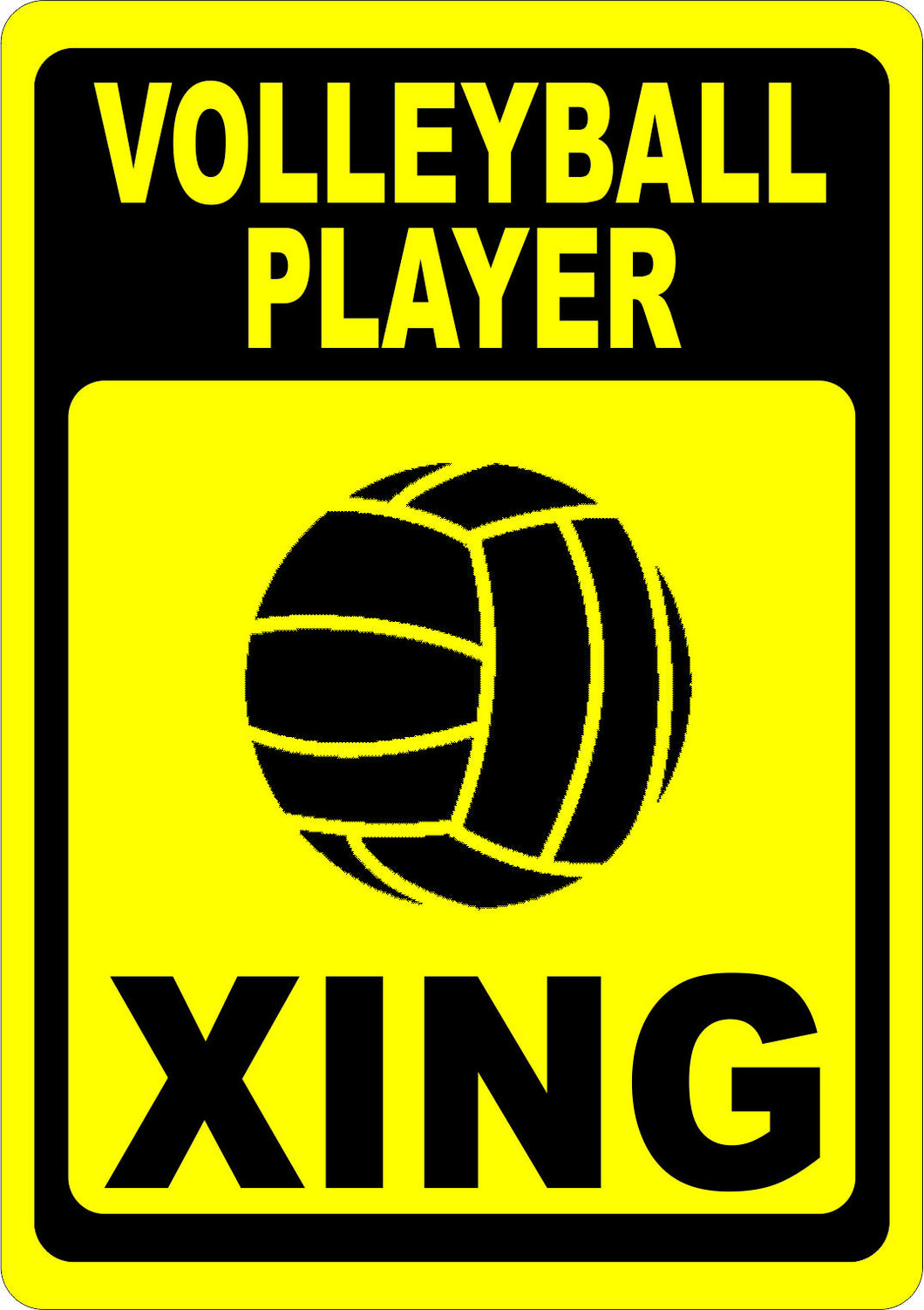 Volleyball Player Crossing Sign