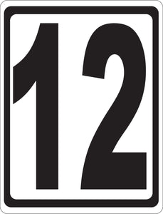 Bay Numbering Sign