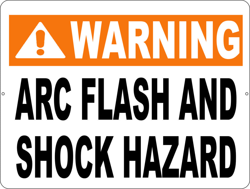 Warning Arc Flash & Shock Hazard Sign - Signs & Decals by SalaGraphics