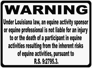 Louisiana Equina Law Sign R.S. 9:2795.3