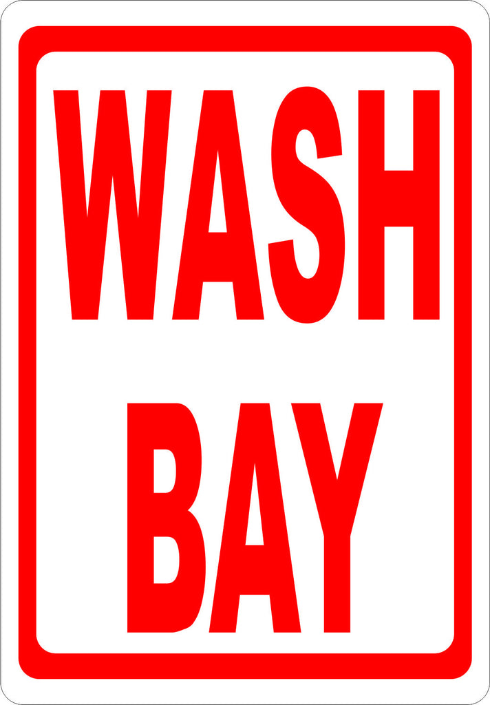 Wash Bay Sign - Signs & Decals by SalaGraphics