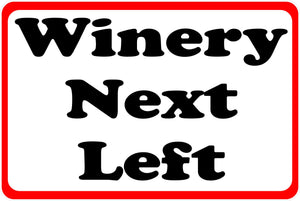 Winery Directional Sign