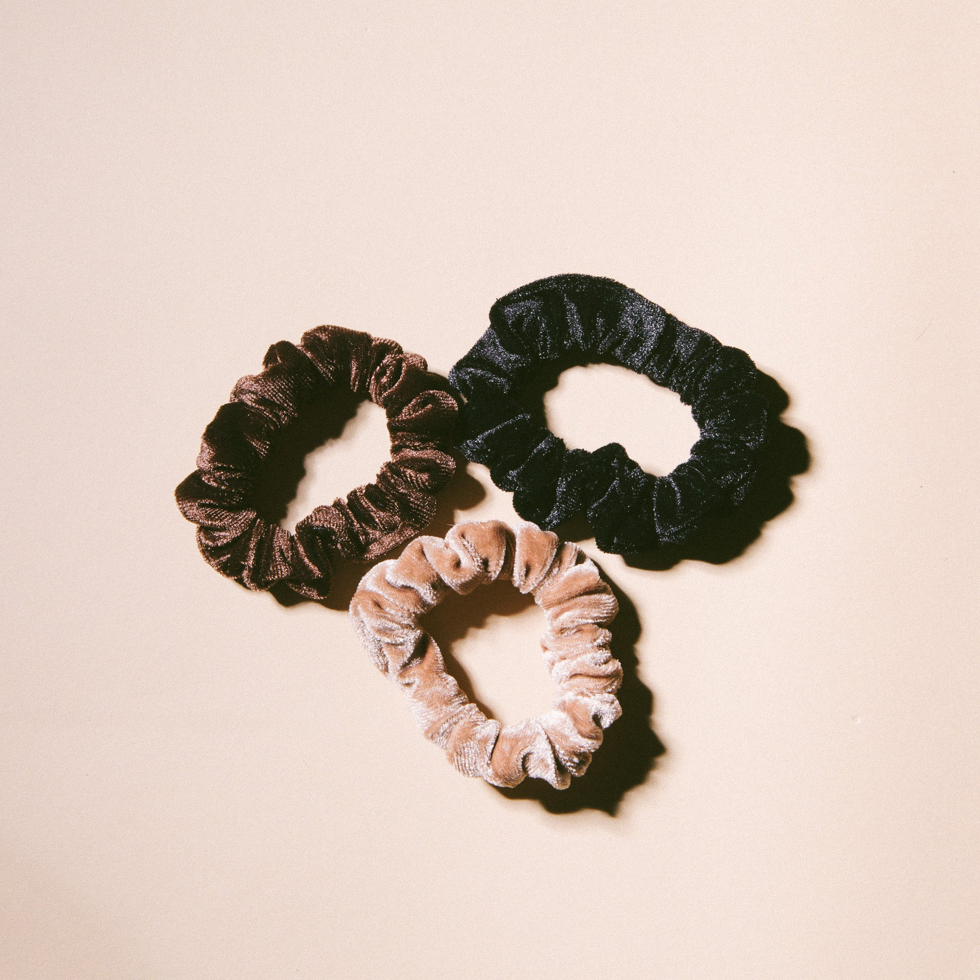 Chocolate Velvet Scrunchies