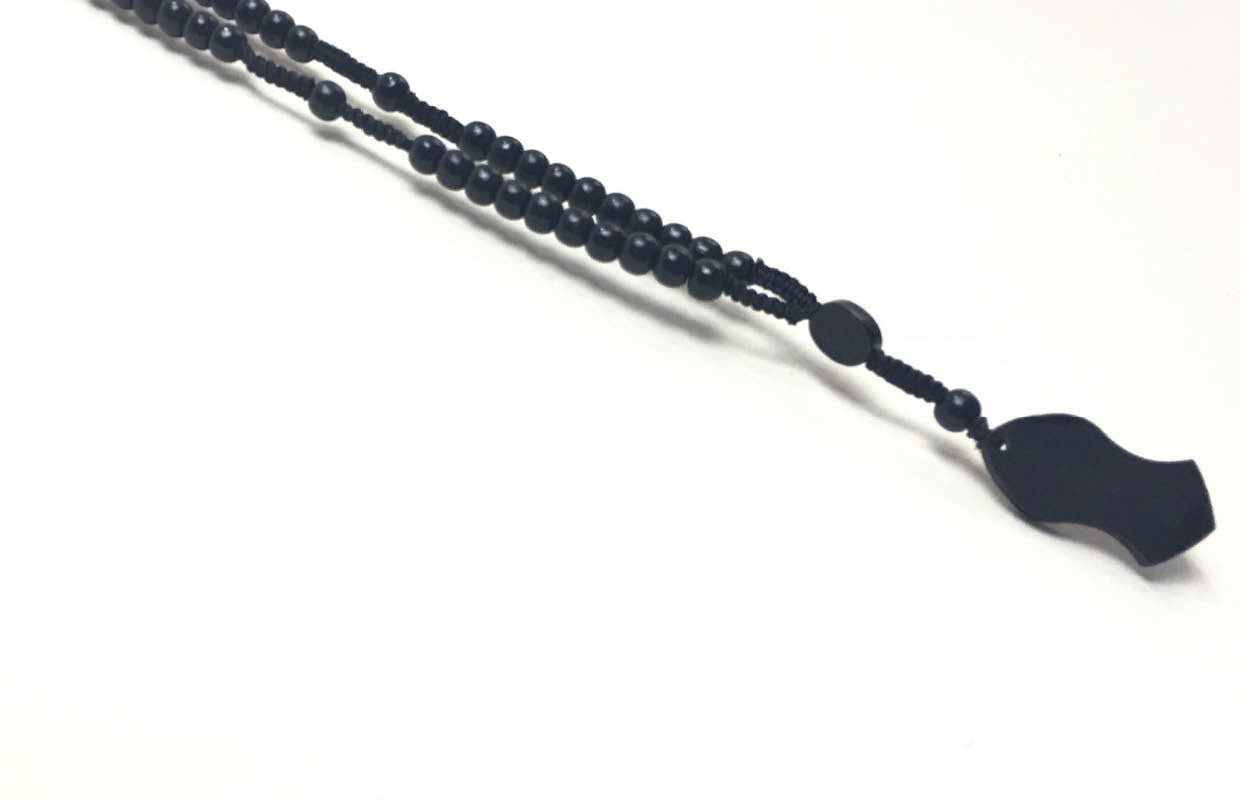 Limited Edition Black Sandal Necklace