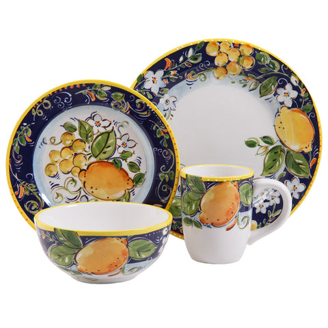 Gibson Elite Vienna Piazza 4pc Piece Dinnerware Set