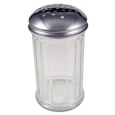 Glass Shaker with Metal Top - 12 Ounces