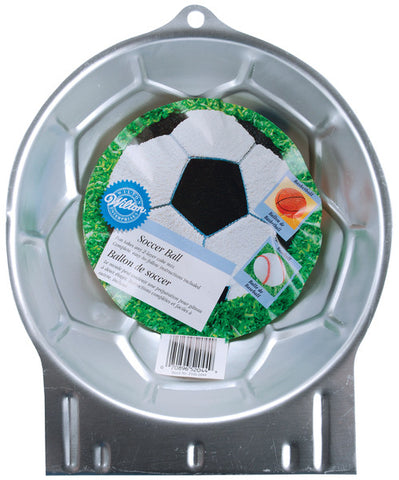 "novelty-cake-pans-soccer-ball-8.75""x8.75""x3.5"""