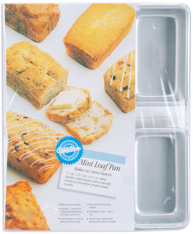 "mini-loaf-pan-6-cavity-6-cavity-4.5""x2.5""x1.5"""
