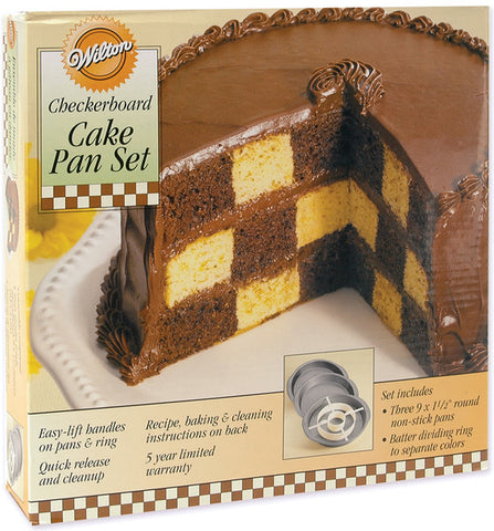 "checkerboard-cake-pan-kit-9""x1.5"""