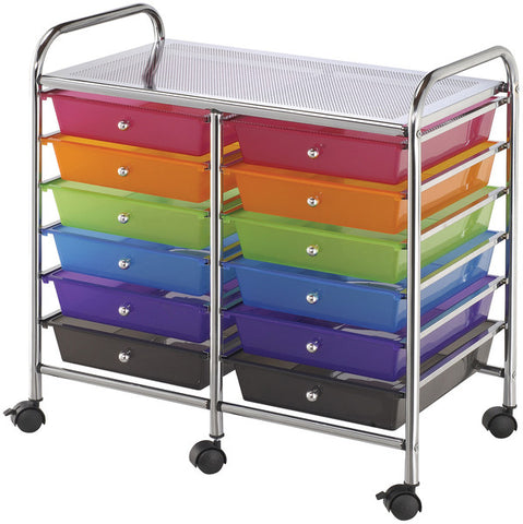 double-storage-cart-with-12-drawers---multicolor