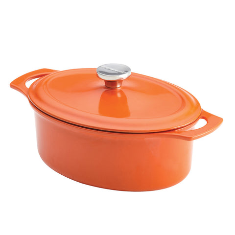 Rachael Ray 3.5 QT Cast Iron Oval Casserole -Orange