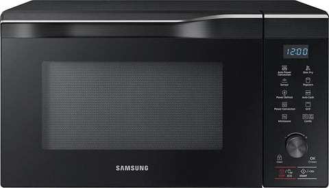 Samsung - 1.1 Cu. Ft. Mid-Size Microwave - Black stainless steel