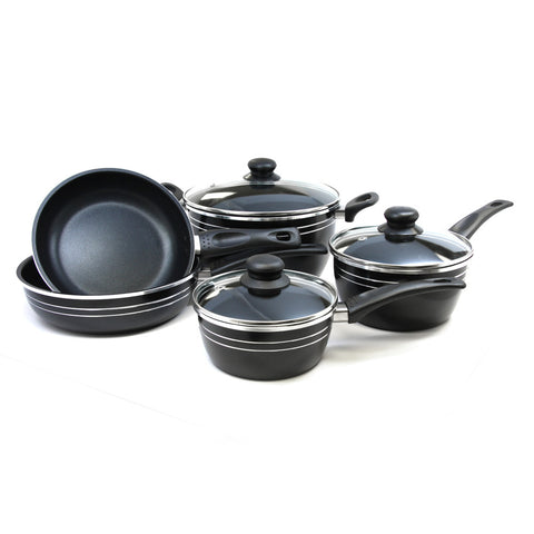 Gibson 8pc Eastmont Collection Cookware Set- Black
