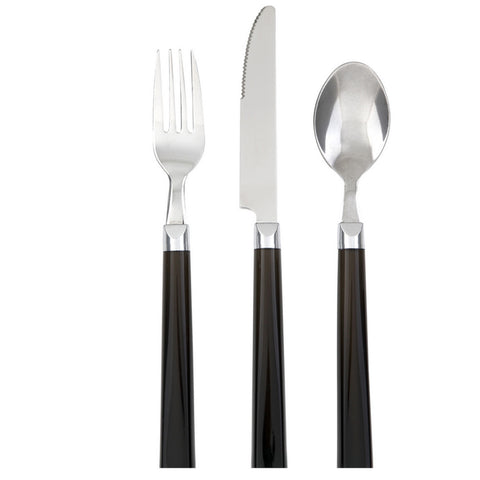 Gibson 12pc Palmdale Dinner Flatware Set- Black