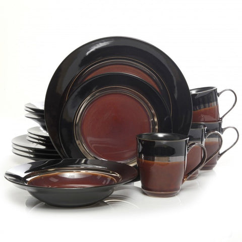 Calypso Court 16 pc Dinnerware Set- Burgundy