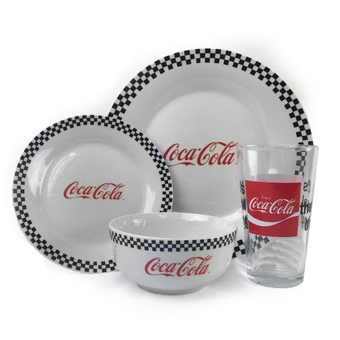 Vintage  Coca Cola 4pc Dinnerware Place Setting
