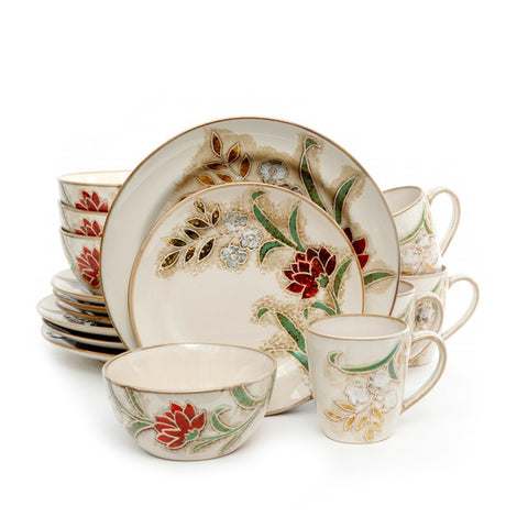 Gibson Elite Flora Petals 16 Piece Dinnerware Set
