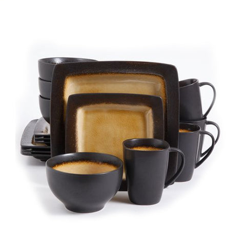 Gibson Home Mystic Amber 16pc Dinnerware Set