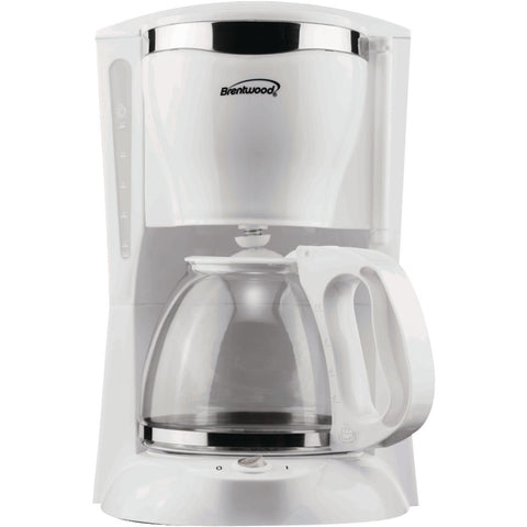 BRENTWOOD TS-216 12-Cup Coffee Maker (White)