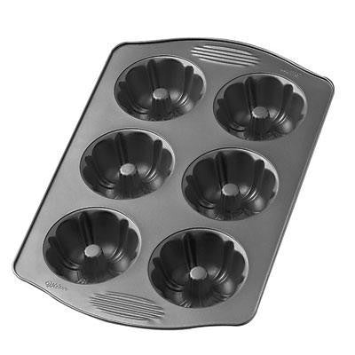 6 Cavity Mini CRS Fluted Pan