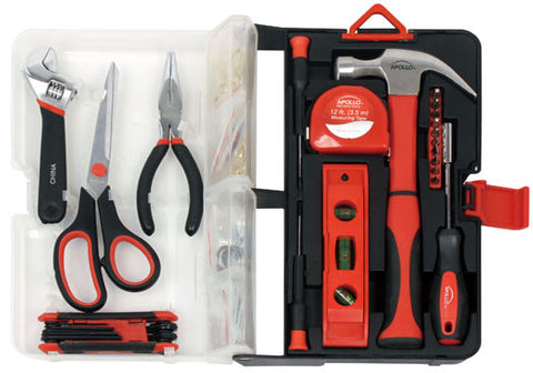 126 Piece Kitchen Drawer Tool Kit - Red