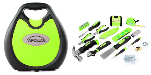 72 Piece Household Tool Kit Green