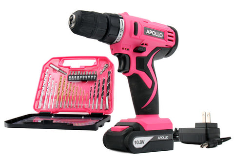 10.8 V Lithium-Ion Cordless Drill with 30 Piece Accessory Set