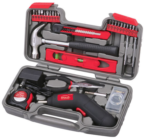 69 Piece Household Tool Kit with 4.8 V Cordless Screwdriver