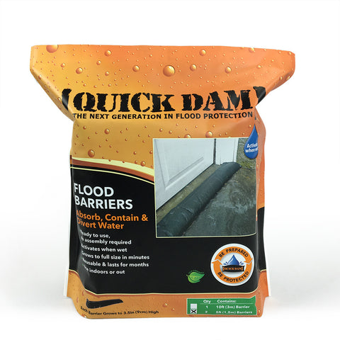 "QUICK DAM FLOOD BARRIERS - 3.5"" high x 5' long Barriers ( 2 Pack )"