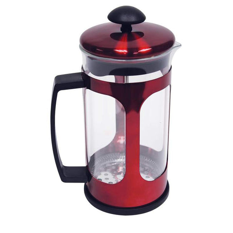 34oz (1 liter) Red Metallic Premium French Coffee Press