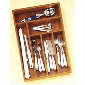 Bamboo Deep Flatware Organizer (53-66pc)
