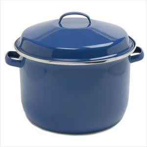 18QT PORCELAIN ENAMEL CANNING POT BLUE