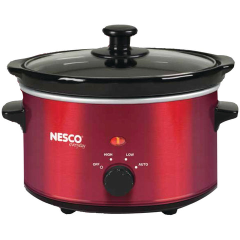Nesco(r) 1.5-quart Oval Slow Cooker (metallic Red)