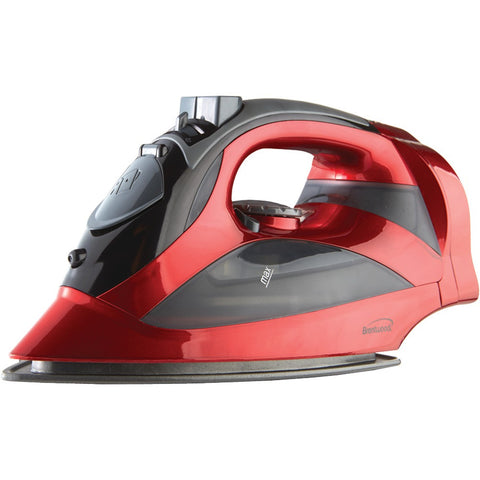 Brentwood Red Steam Iron With Retractable Cord