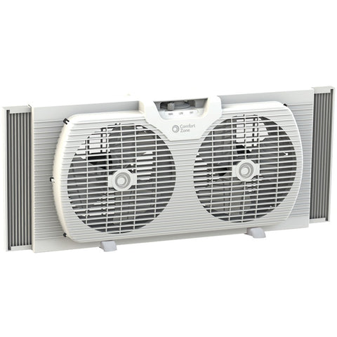 "Comfort Zone 9"" Twin Portable Window Fan"