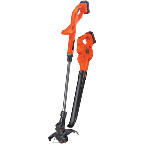 "Black And Decker 20-volt Max 10"" String Trimmer And Edger Hard Surface Sweeper & 2 Batteries Combo Kit"